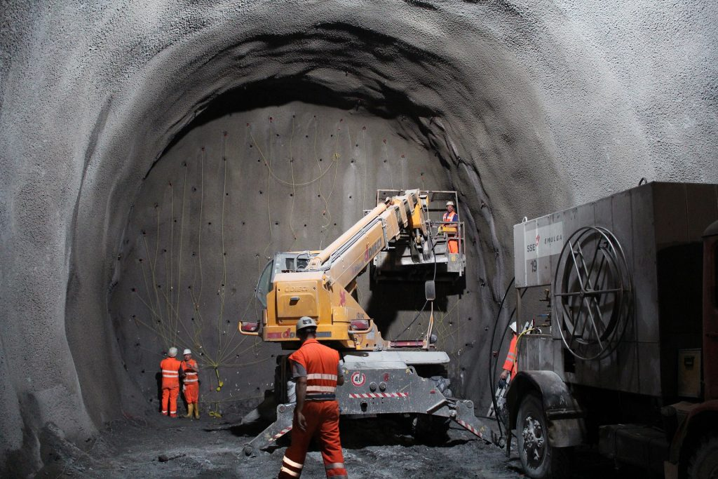 construction d'un tunnel