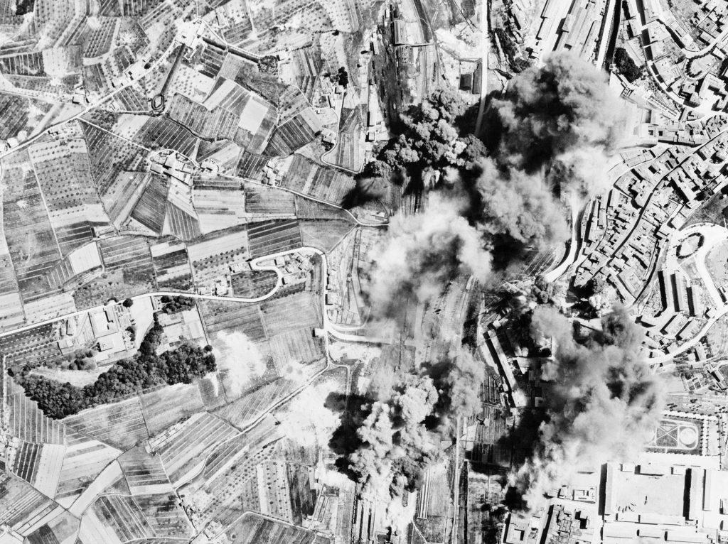impact de bombes pendant la seconde guerre mondiale